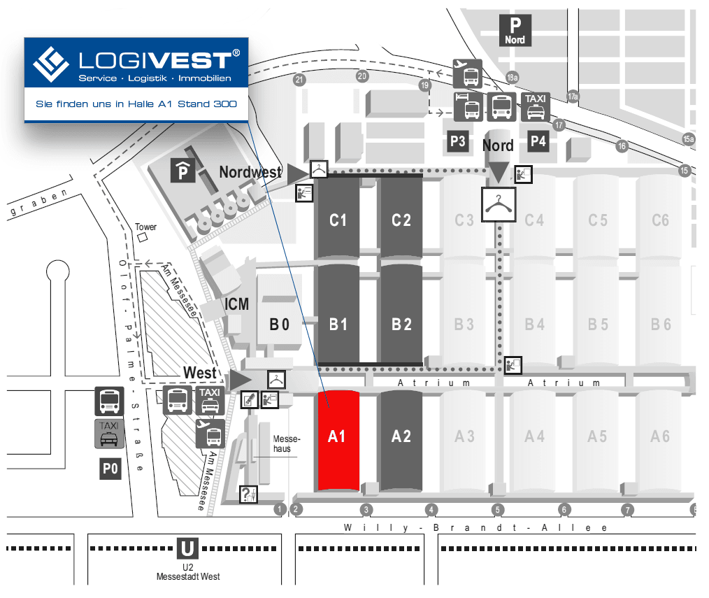 Logivest auf der Expo Real 2019 - Halle A1 Stand 300